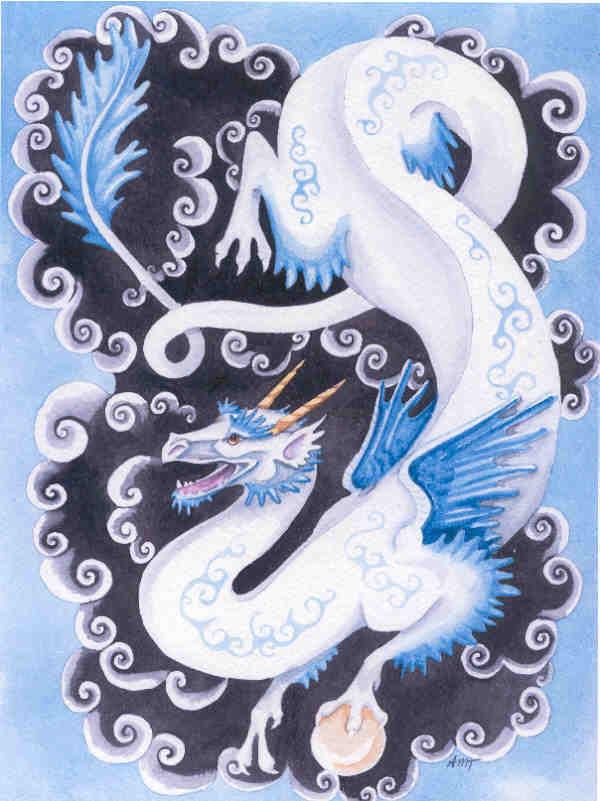 Blue Dragon by merimask