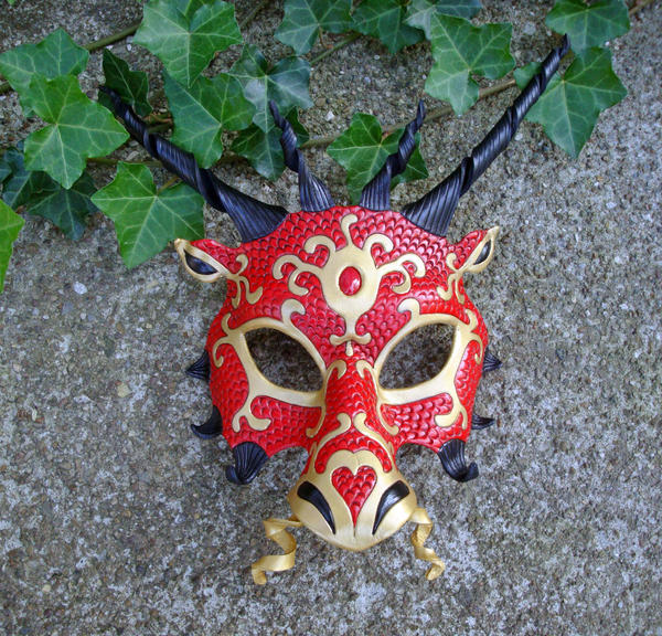 Japanese Dragon Mask Red Dragon Mask by mer...