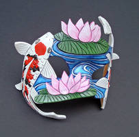 Koi Pond Mask by merimask
