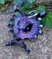 Leather Dragon Keychain by merimask
