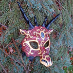 Red and Gold Dragon Mask by merimask