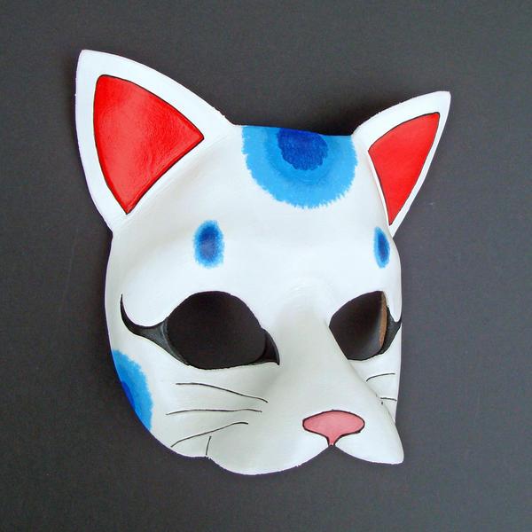 Blue Maneki Neko Mask by merimask