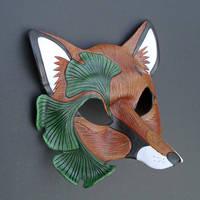 Ginkgo Fox Mask, version two by merimask