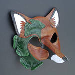 Ginkgo Fox Mask, version two by merimask