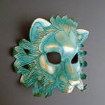 Verdigris Leather Lion Mask