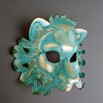 Verdigris Leather Lion Mask