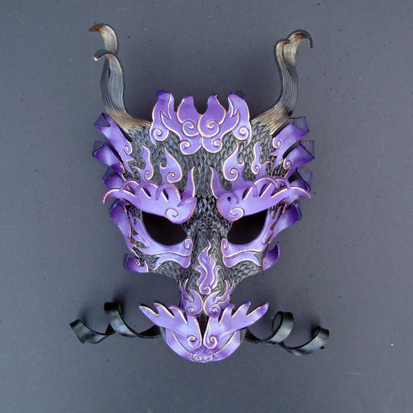 Royal Asian Dragon Mask by merimask