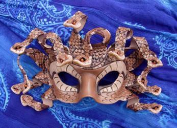 Copperhead Medusa Mask by merimask