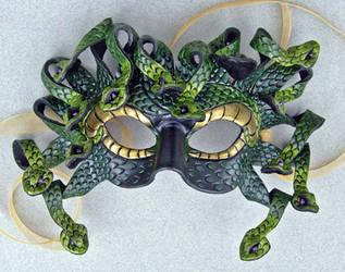 Green Medusa Mask by merimask