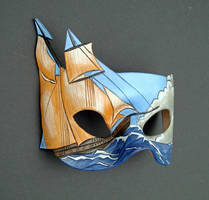 Brigantine... A Leather Mask by merimask