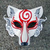 Shiranui...Japanese Wolf Mask by merimask