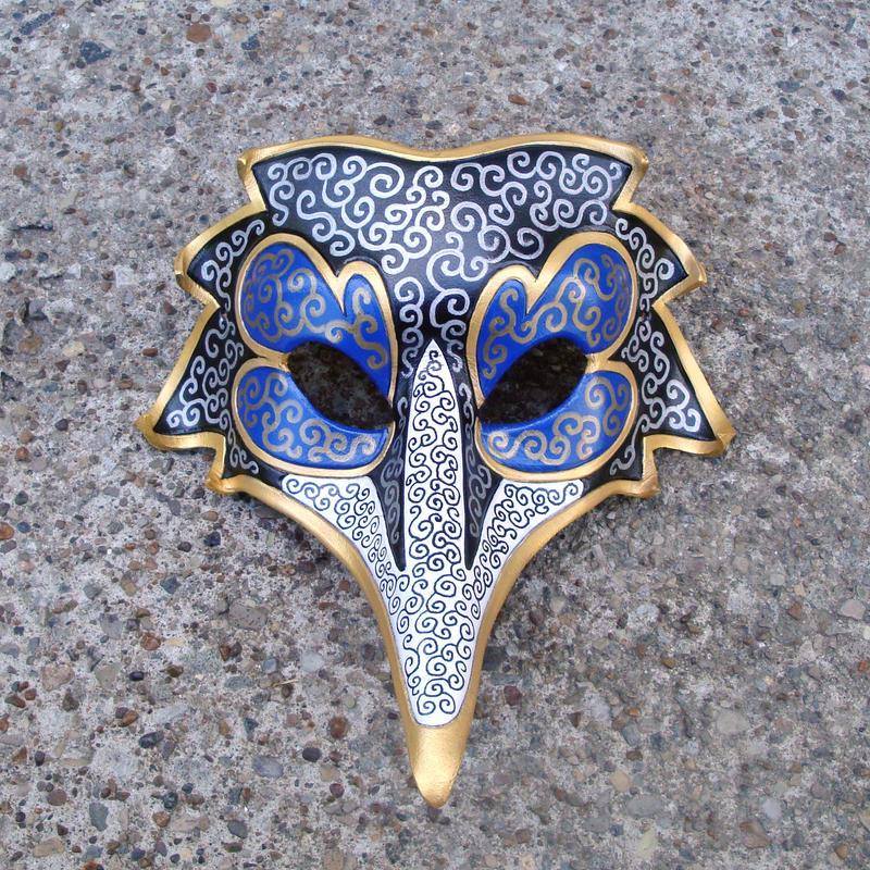 Venetian Raven Mask by merimask
