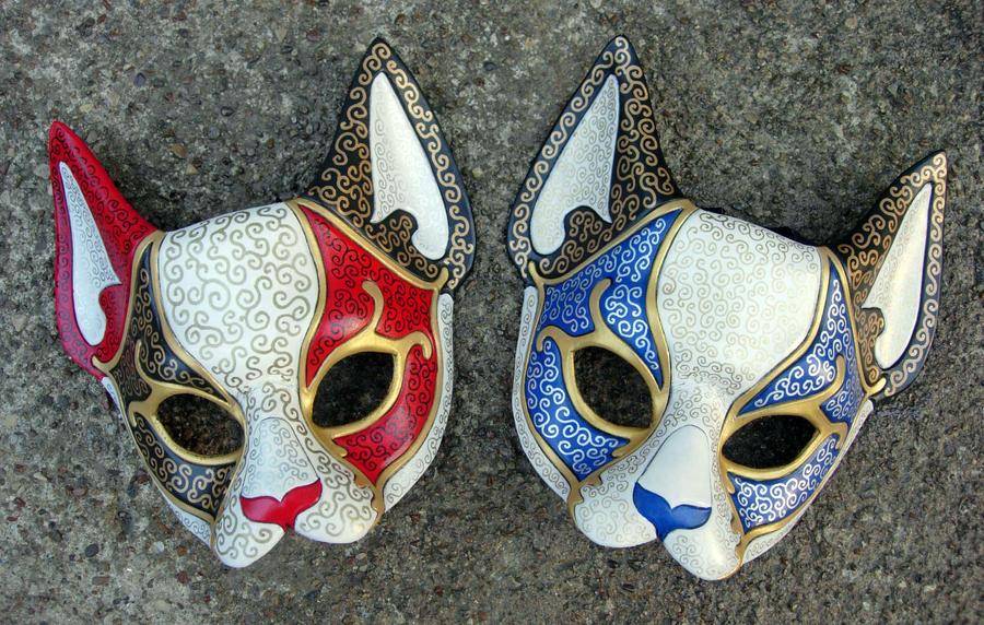 venetian cat masks by merimask on deviantart