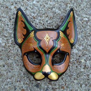 Persian Cat...Leather Mask