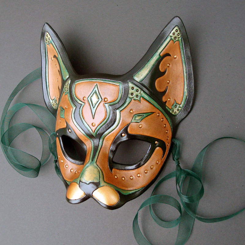 Persian Verdigris Cat Mask by merimask