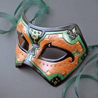 Persian Verdigris Leather Mask by merimask