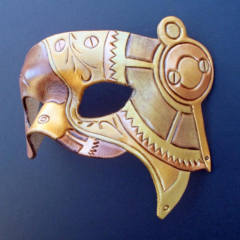 Halfsteam Steampunk Mask by merimask