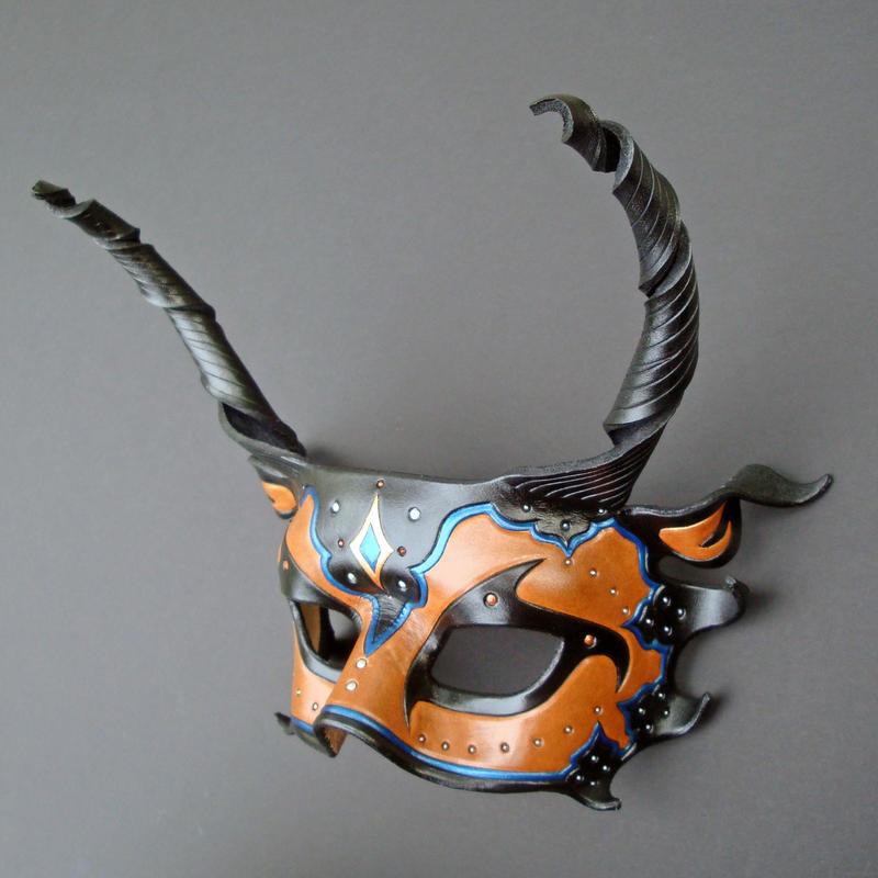 Persian Dragon Half Mask by merimask