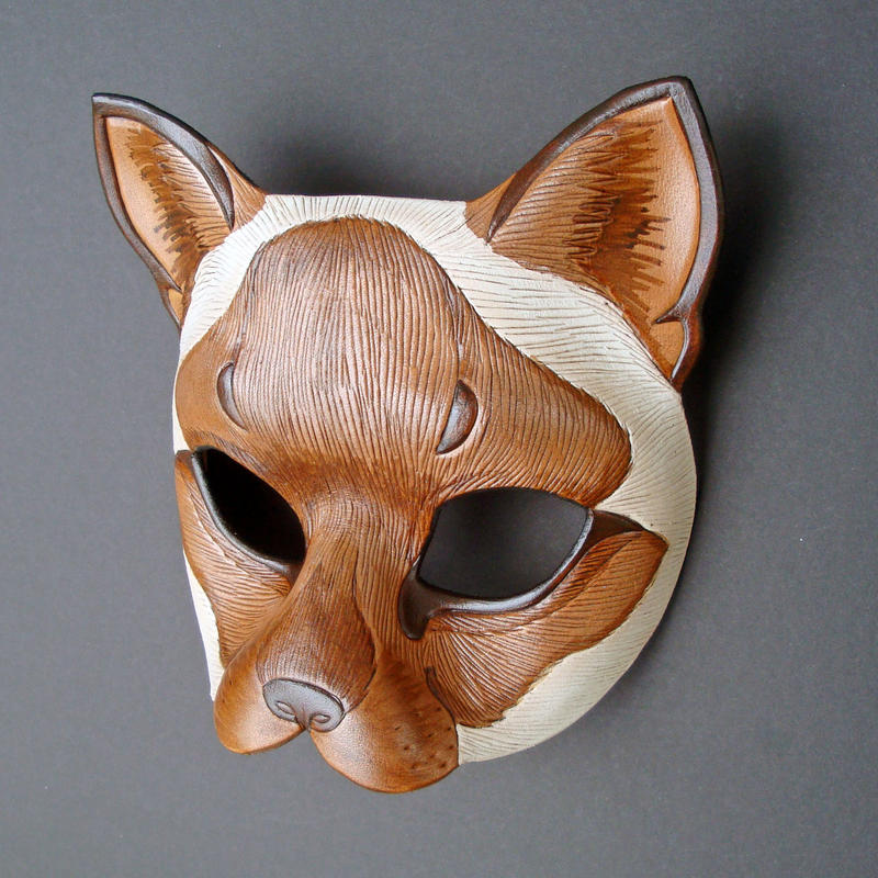 Siamese Cat Leather Mask by merimask