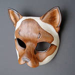 Siamese Cat Leather Mask