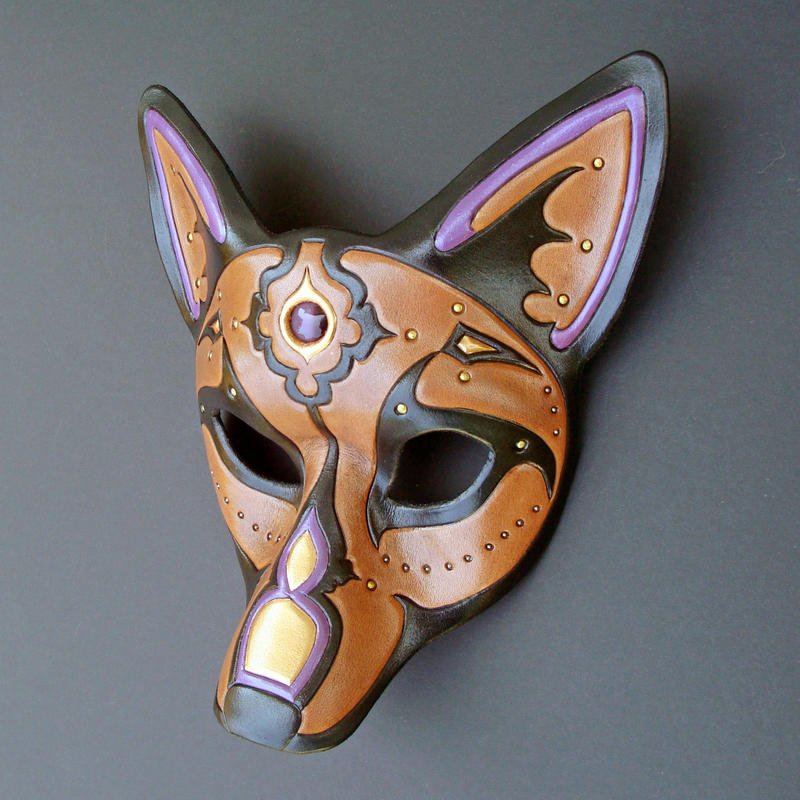 Purple Jeweled Wolf Mask by merimask