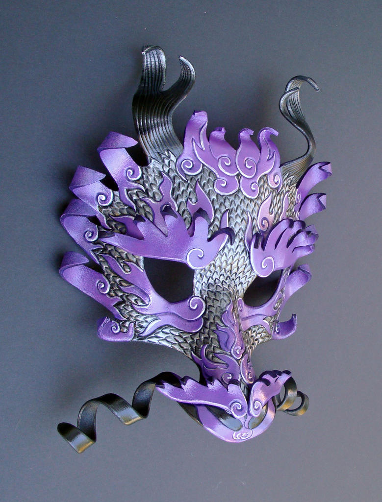 Royal Purple Dragon 2 by merimask