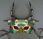 Green and Copper Dragon Mask