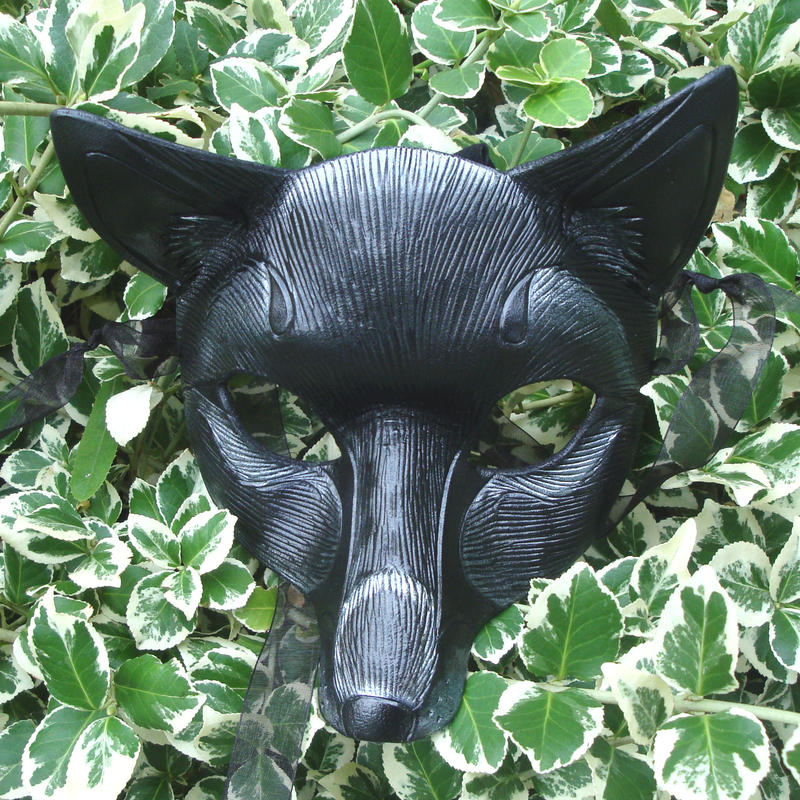 Black Fox Leather Mask by merimask