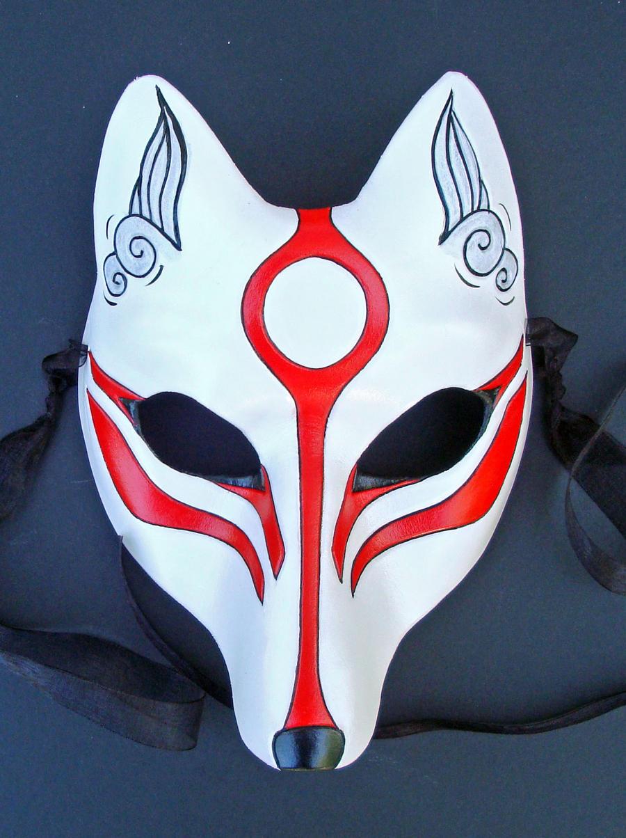 Okami Amaterasu Kitsune Mask by merimask