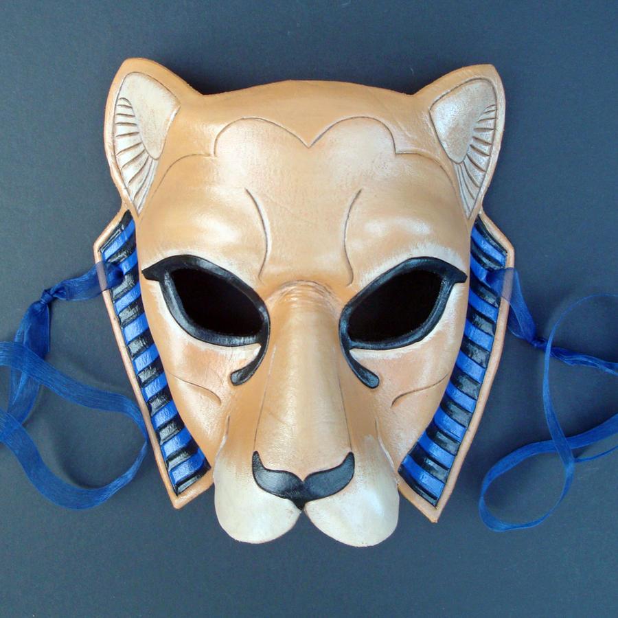Tawny Sekmeht Leather Mask by merimask