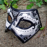 White and Black Persian Mask by merimask