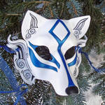 Blue Okami Leather Mask