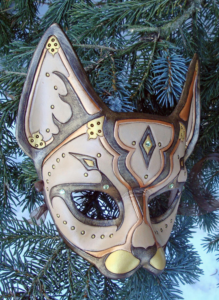 Desert Persian Cat Mask by merimask