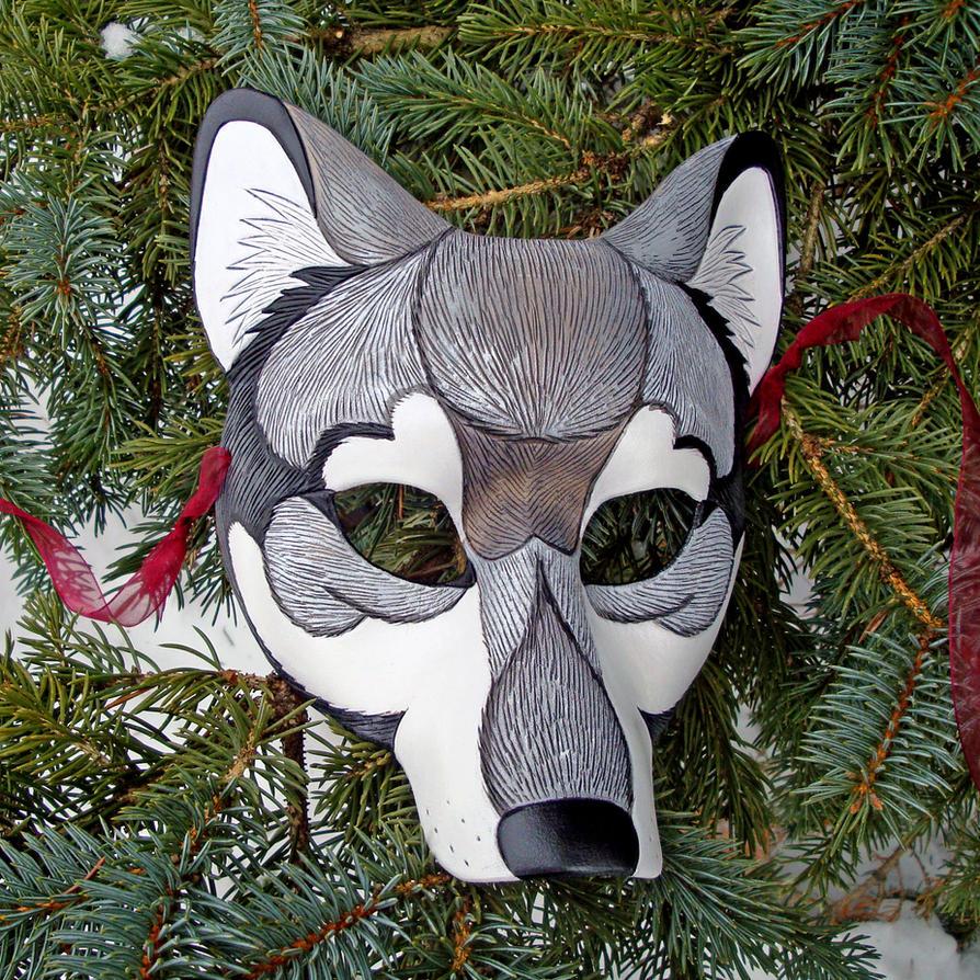 timber wolf mask by merimask on deviantart. Black Bedroom Furniture Sets. Home Design Ideas