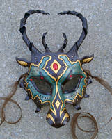 Custom Jeweled Dragon Mask by merimask