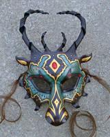 Custom Jeweled Dragon Mask by merimask