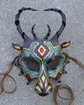 Custom Jeweled Dragon Mask