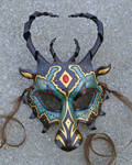 Custom Jeweled Dragon Mask