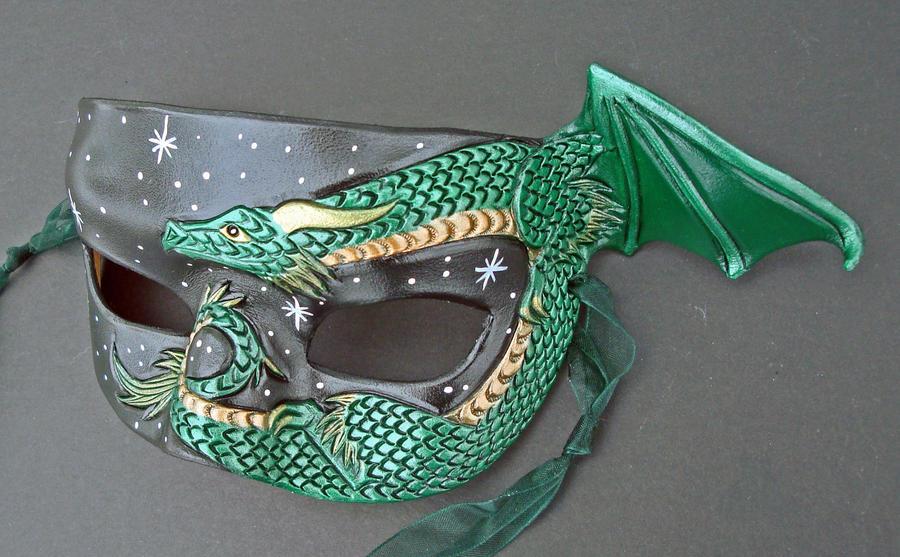 Small Dragon Half Mask by merimask