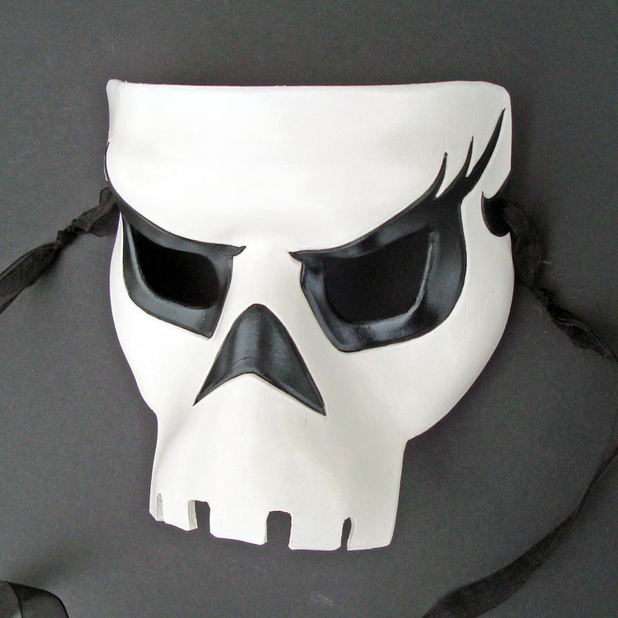 Leather Skull Mask by merimask