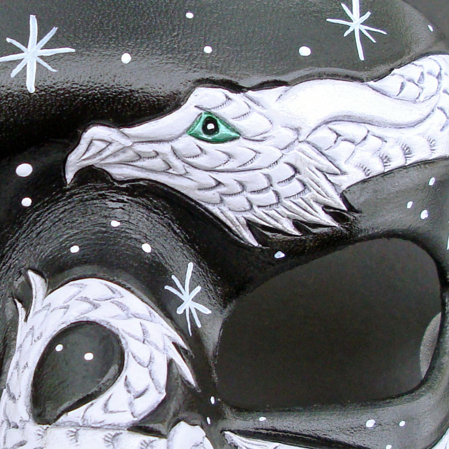 Small White Dragon Detail by merimask