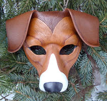 American Foxhound Leather Mask