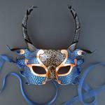 Blue And Copper Half Dragon