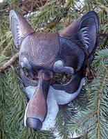 Dark Timber Wolf Mask by merimask