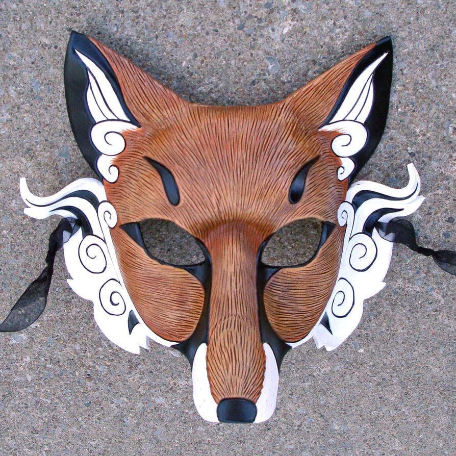 Japanese Fox Mask...finish by merimask