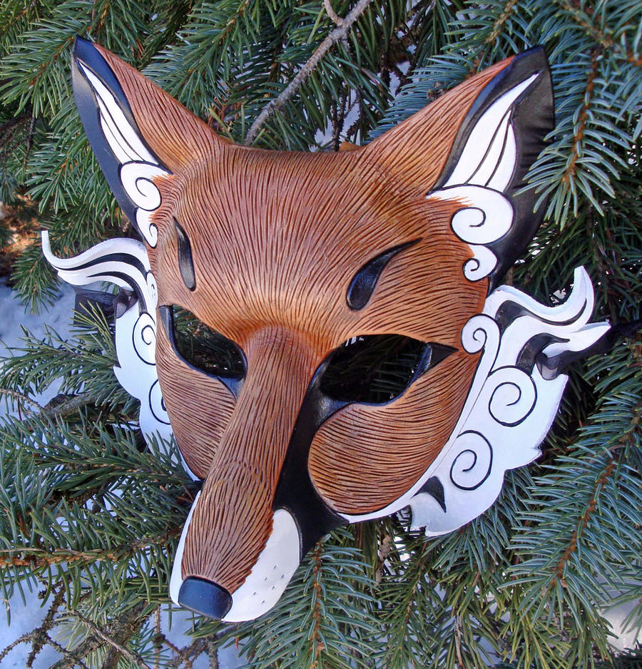 Japanese Fox Mask by merimask