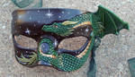 Green Copper Small Dragon Mask