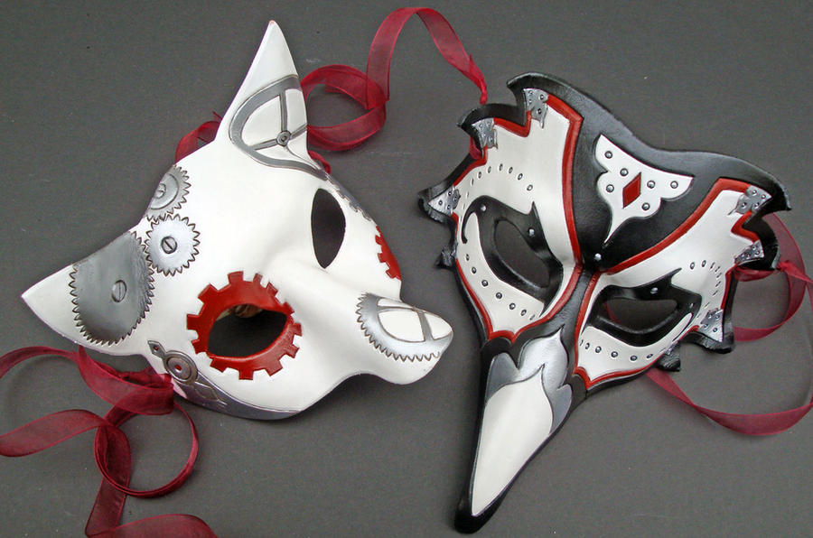 Custom Wedding Masks by merimask