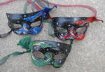Three Leather Dragon Masks