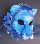 Blue Lion Leather Mask